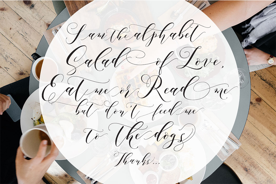 Aidan romantic script befonts