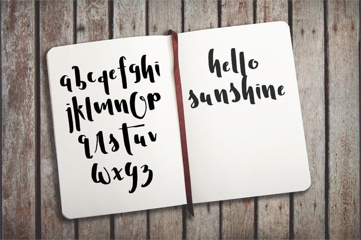 Mister Brightstride Demo font 4