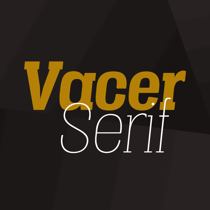 Vacer Serif Personal font 3