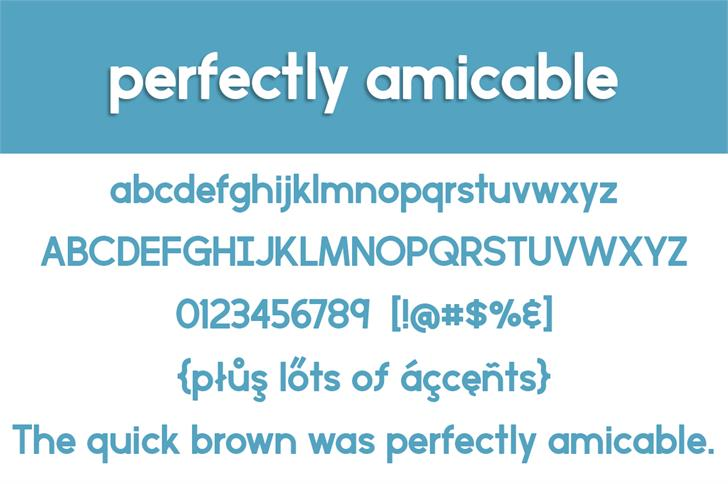 perfectly amicable font3