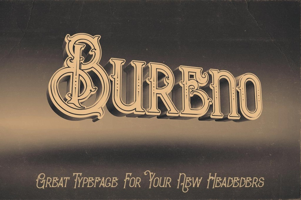 Bureno Regular Font 5