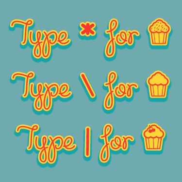 Cupcake Party Demo font 3