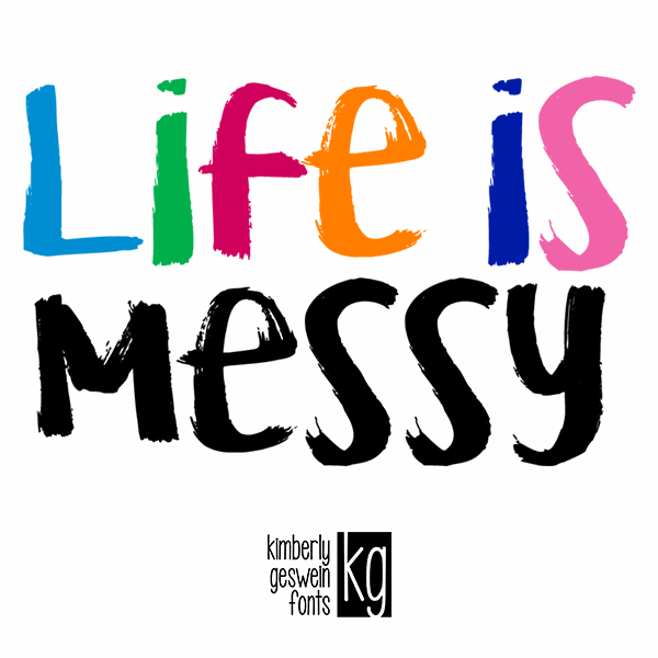 KG Life is Messy font 1