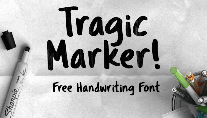 Tragic Marker Font - Befonts.com