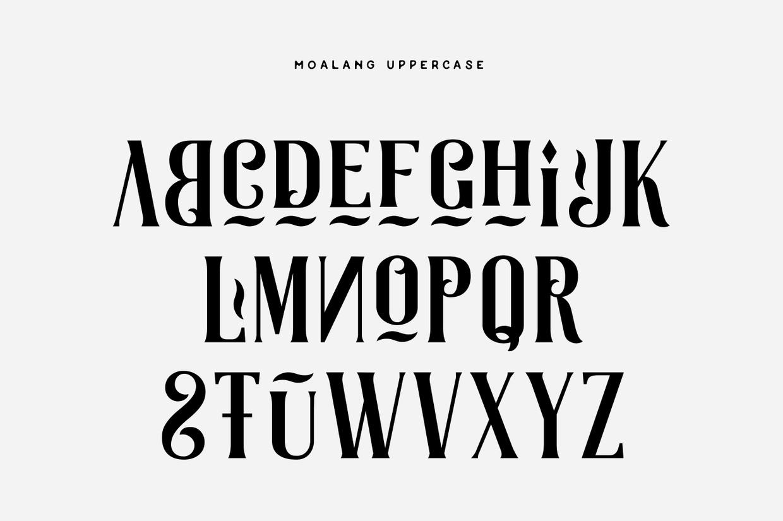 Moalang Free Font 4