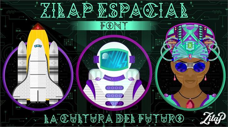 Zilap Espacial font 4