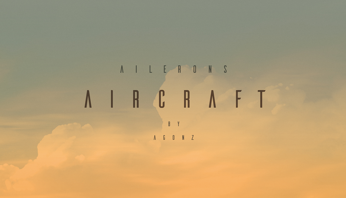 Ailerons Typeface - Befonts com