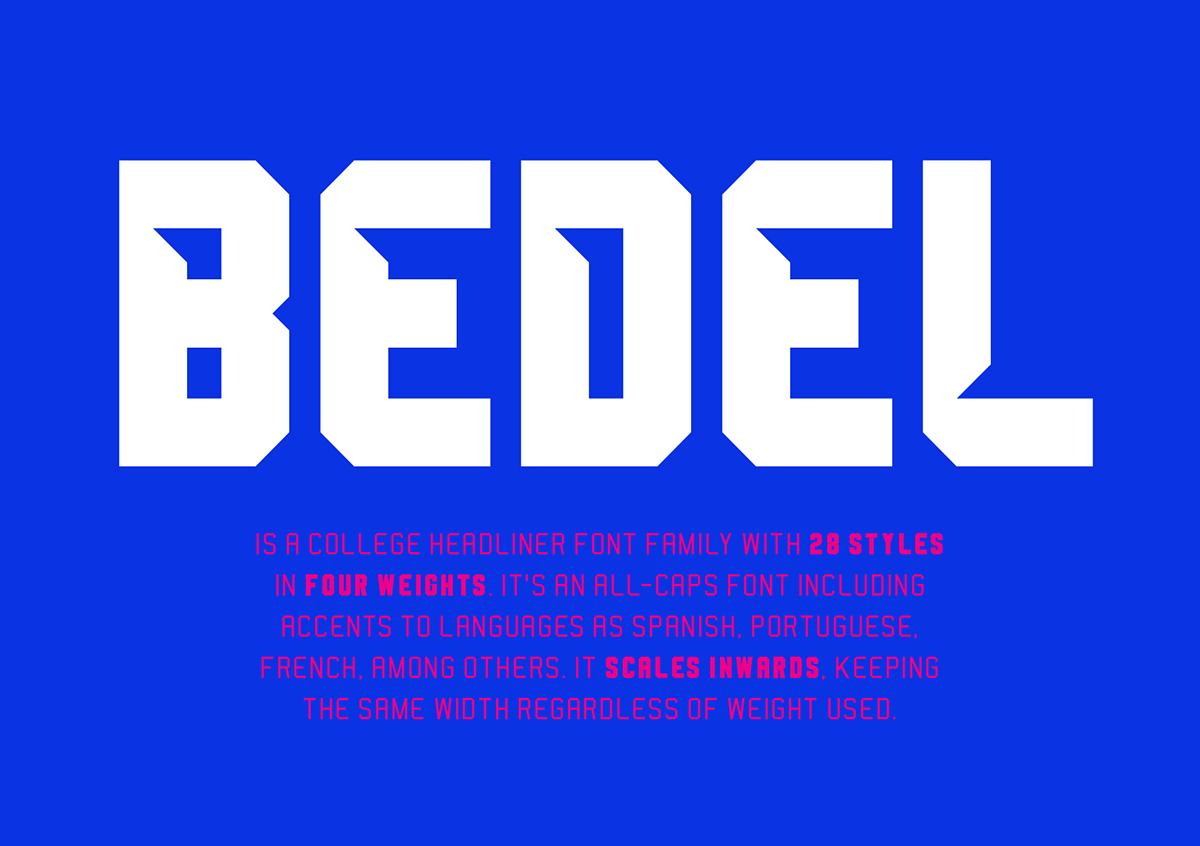 Bedel Font Family - Befonts.com