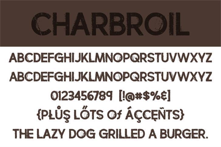 charbroil font 3