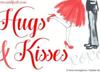 Hugs and Kisses Xoxo Font