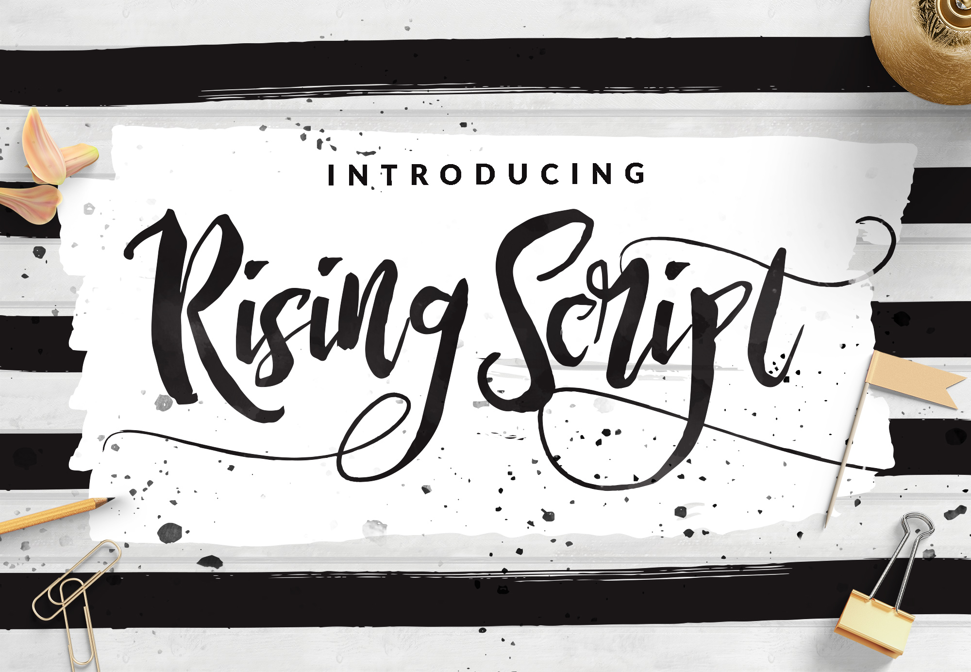 Rising brush font befonts