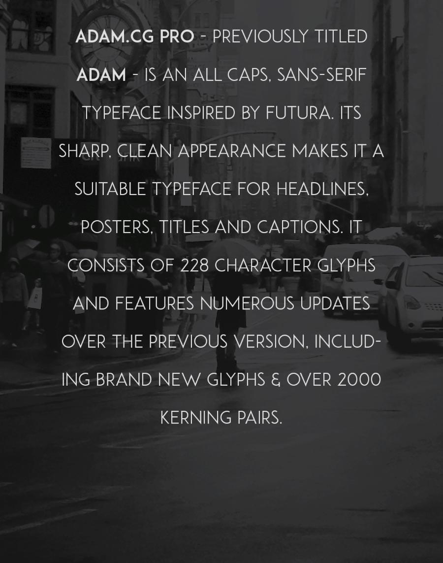 ADAM CG Pro Free Typeface 12
