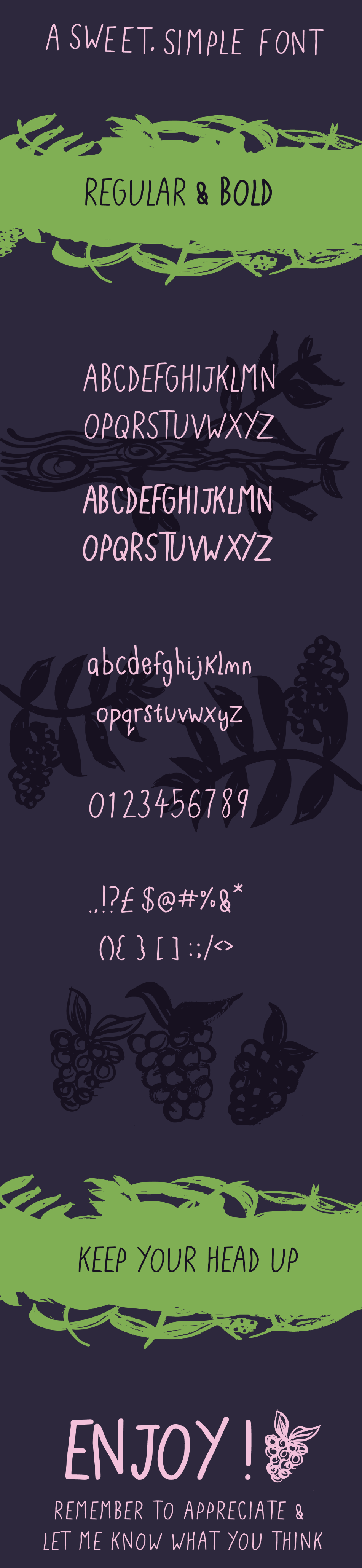 Blackberries- A sweet Font 1