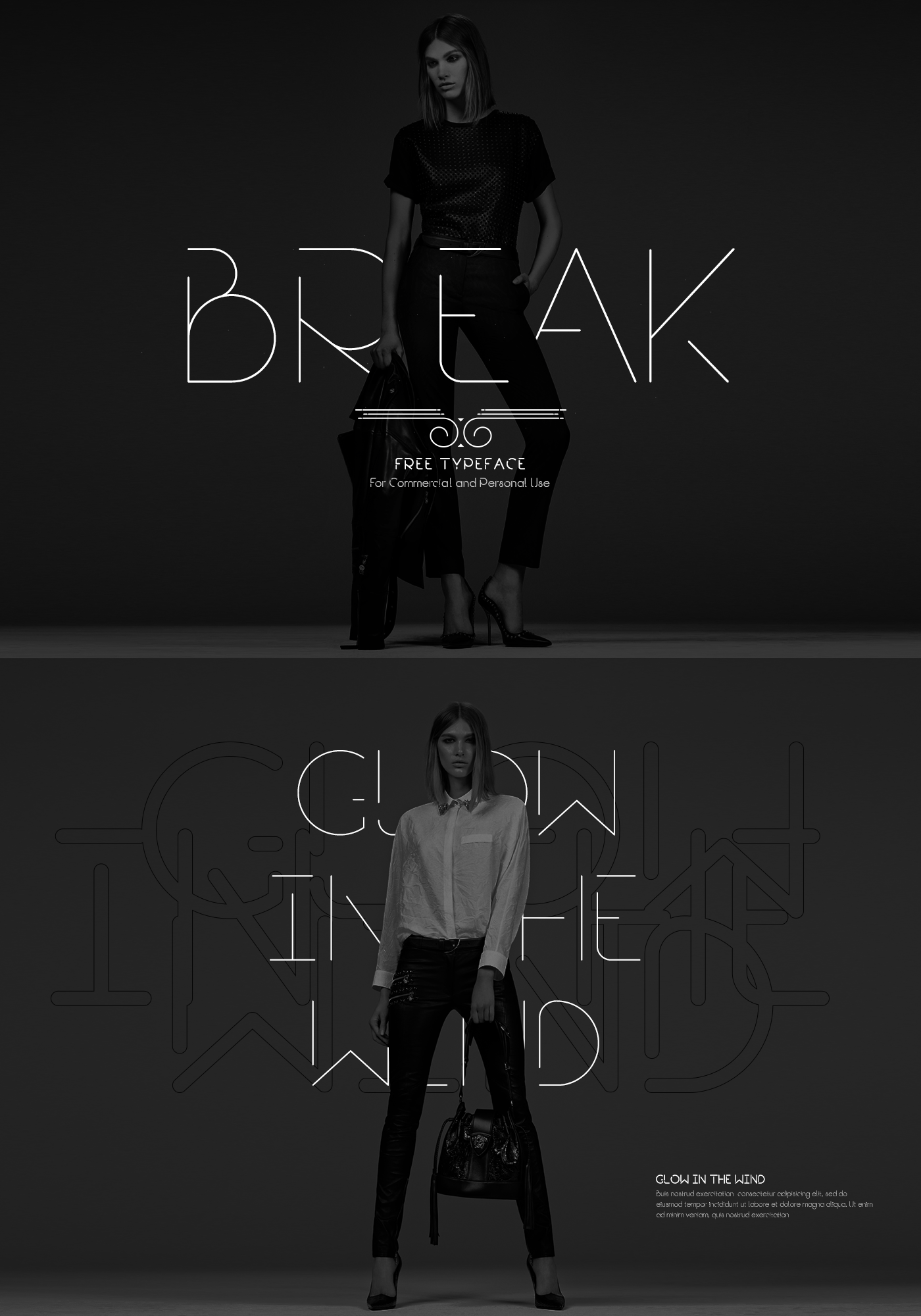 Break Fill Typeface 3