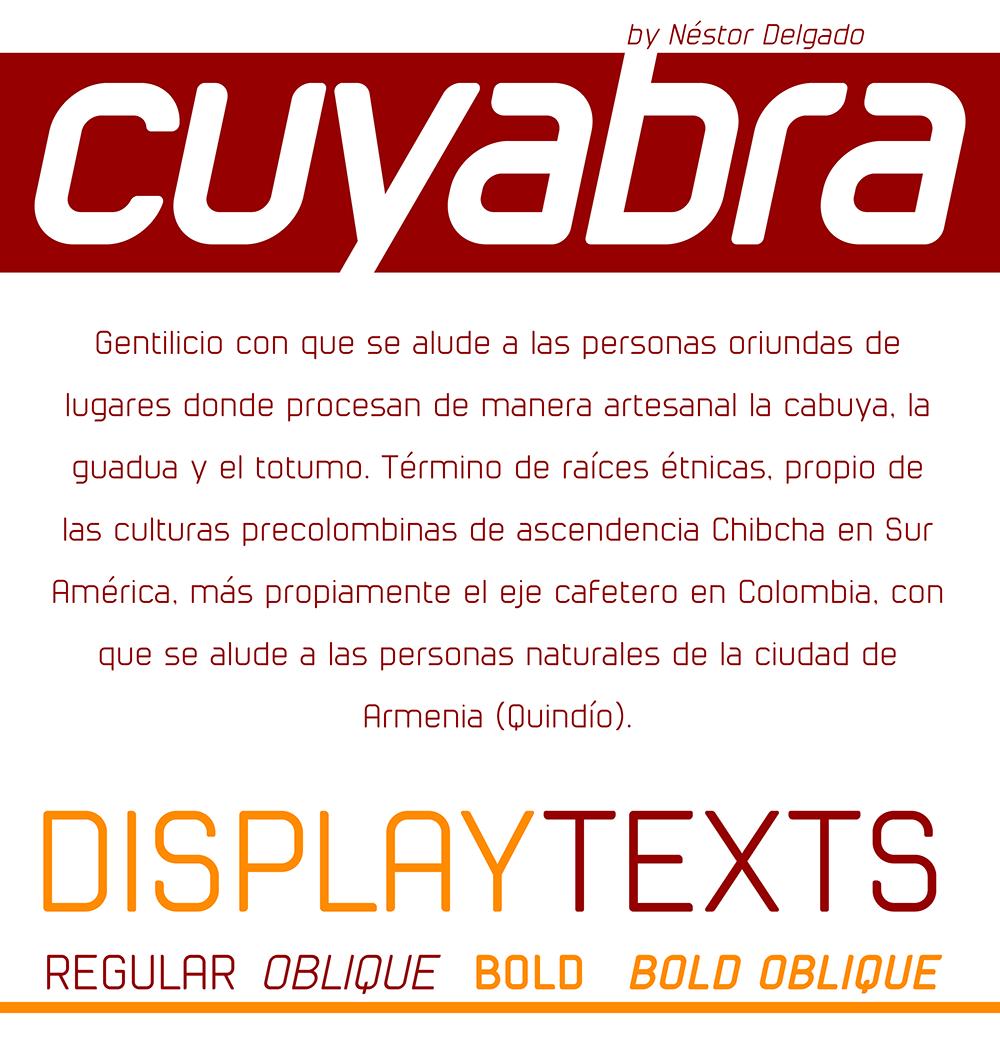cuyabra typeface - free font 3