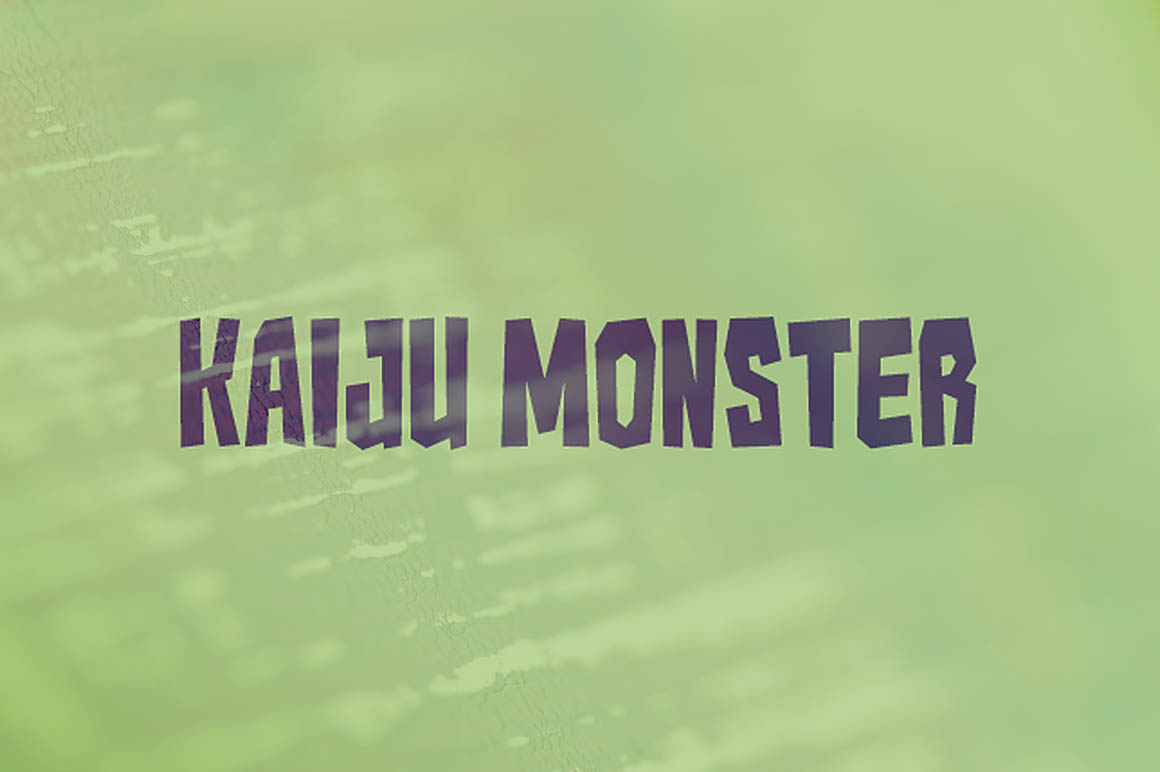 Kaiju Monster Font Befonts Com