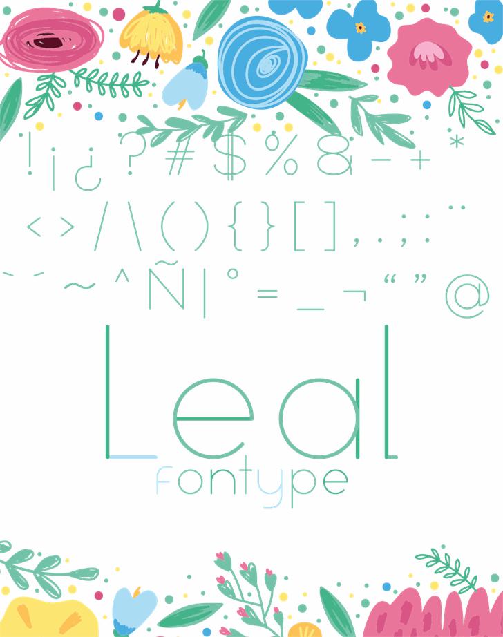 Leal font 4