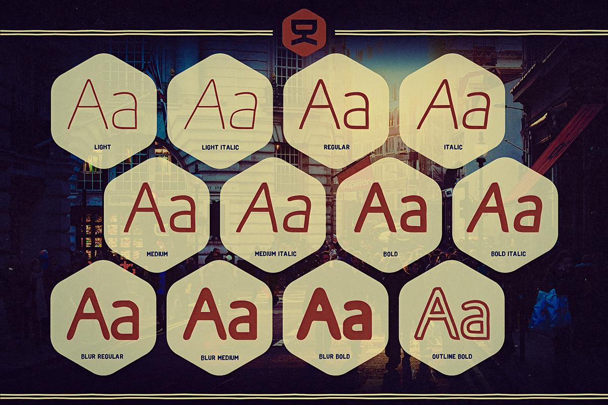 Osgood Sans Font 6