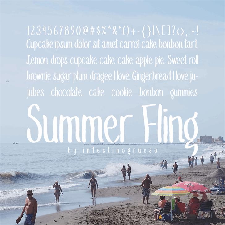 Summer Fling Medium font — Created in 2016 by IntestinoGrueso