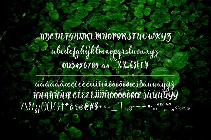 Natural script font befonts