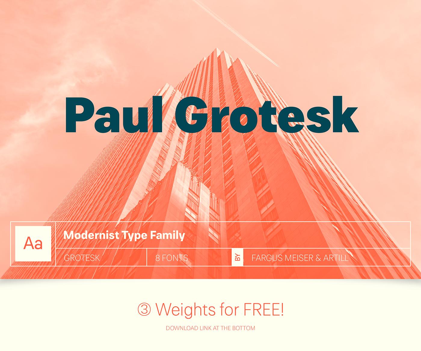 Paul Grotesk Typeface - Befonts com