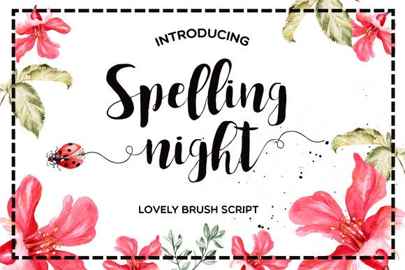 spelling night font