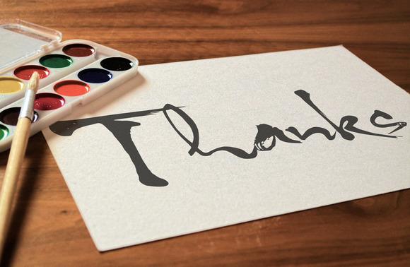 Aring - calligraphic typeface
