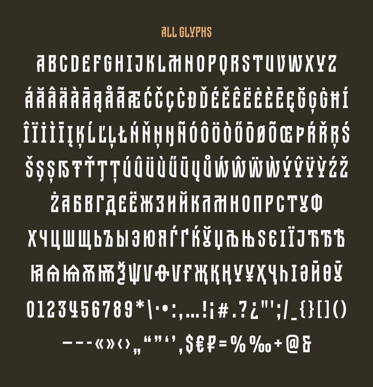 Dobrozrachniy Typeface