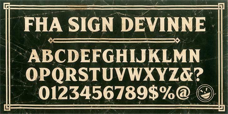 FHA Sign DeVinneNC Font