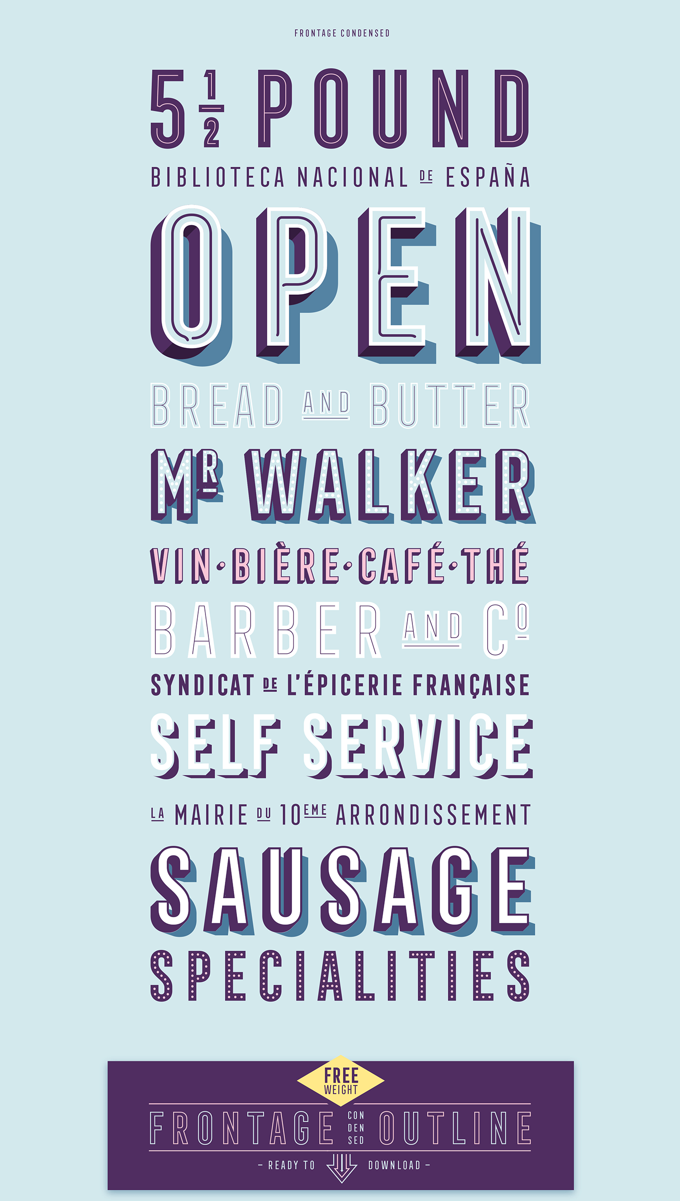 Frontage Condensed Font Family
