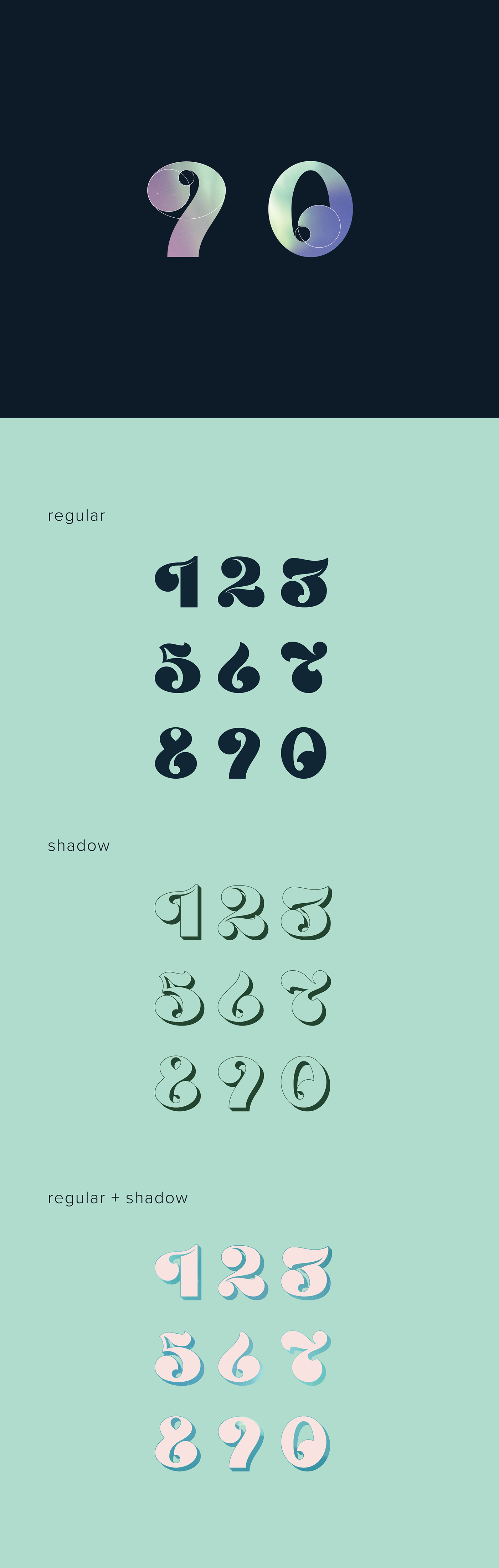 Pole Numerals Font