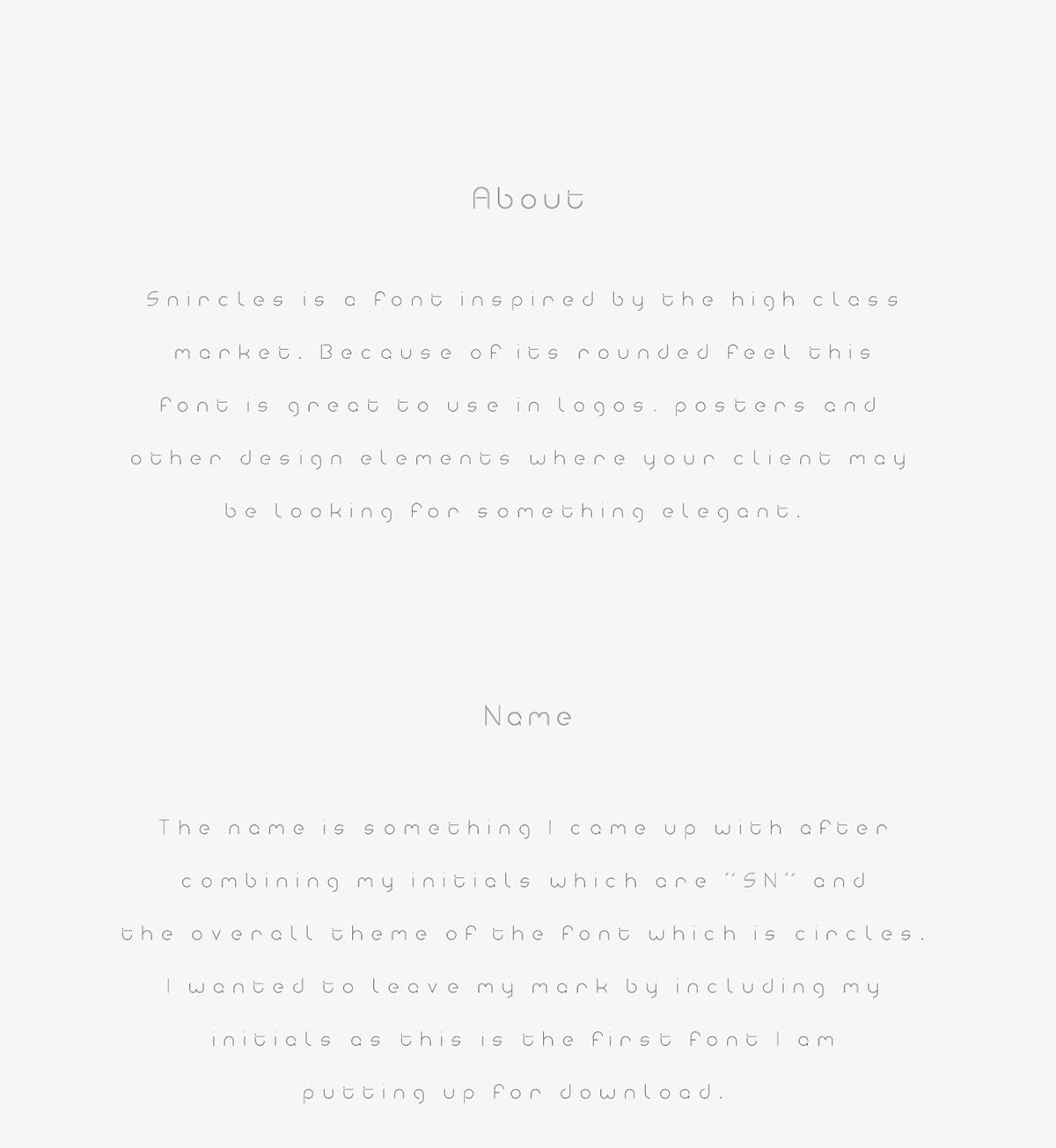 Snircles Font