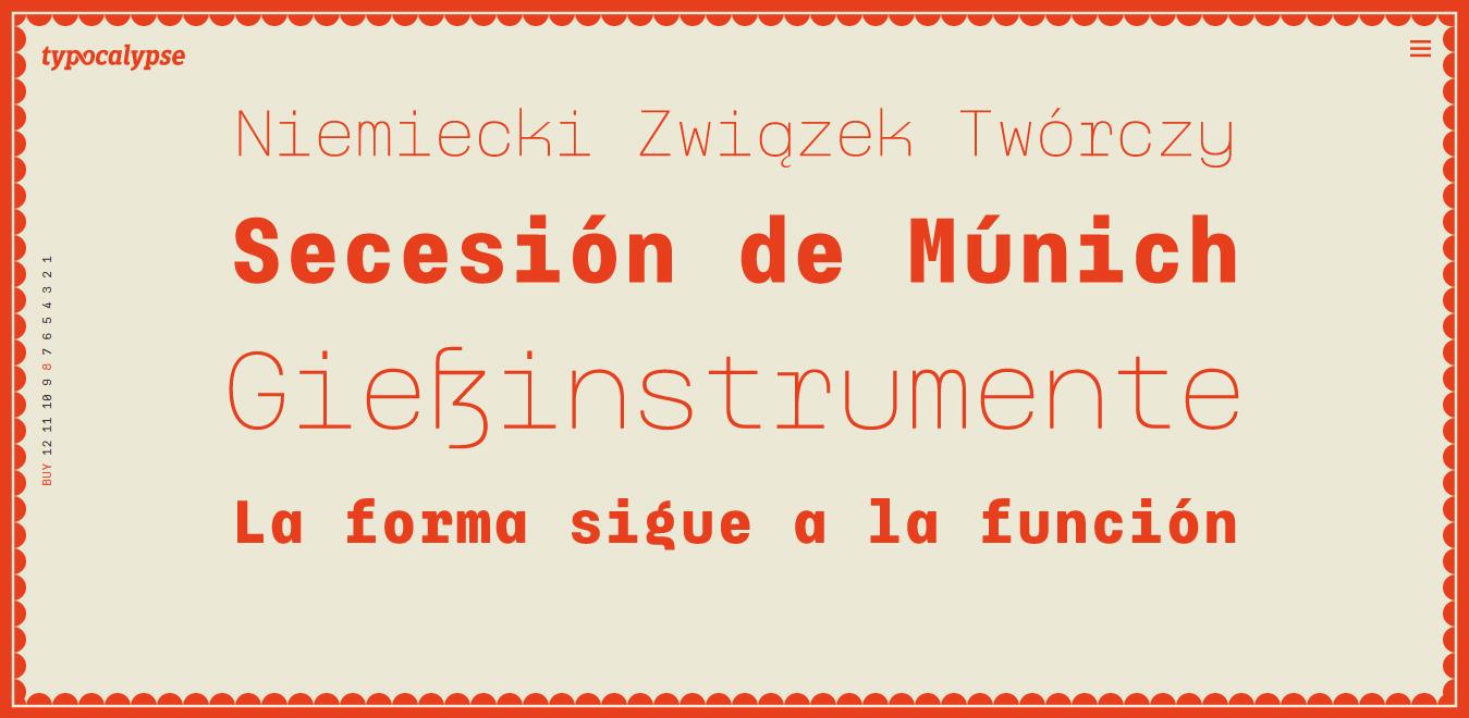 Typewalk Mono 1915 Font Family