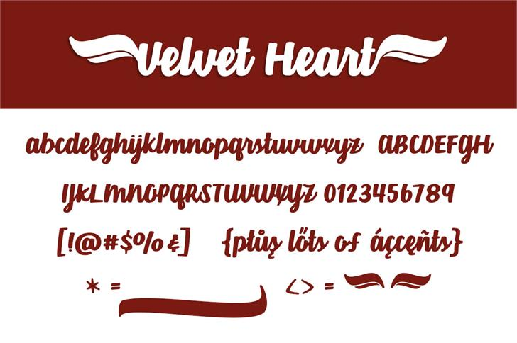 Velvet Heart Font