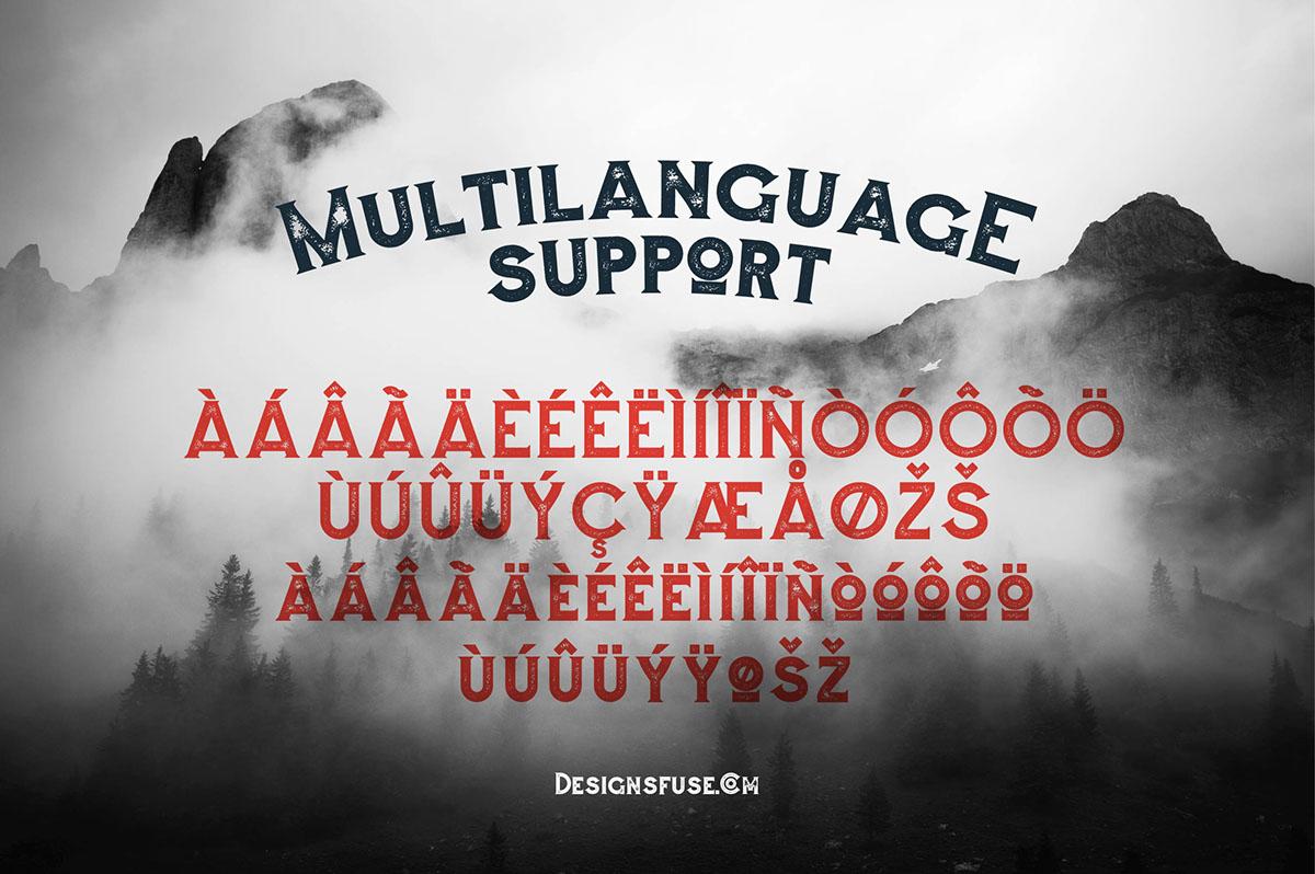 Augusto Rough Typeface