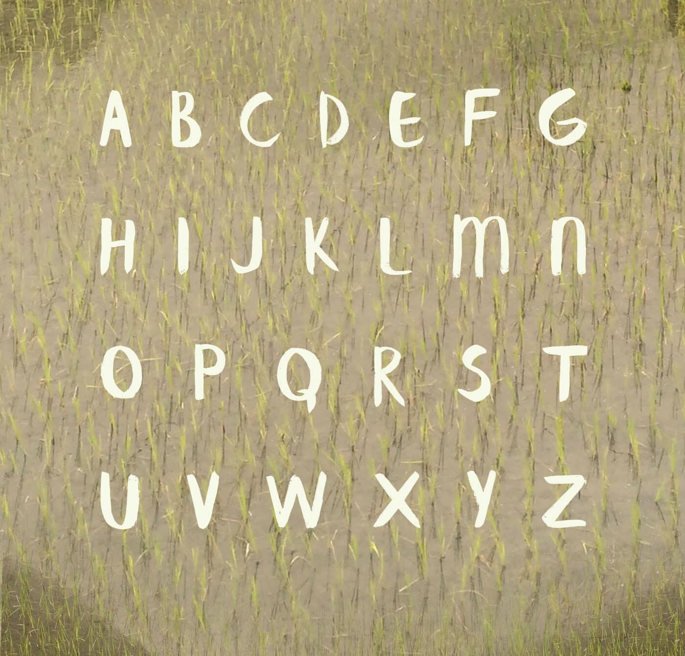 Banaue Brush font