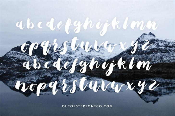 Bristle Brush Script Black Font