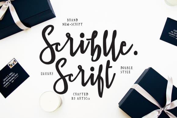 Brush script font scriblle befonts.com