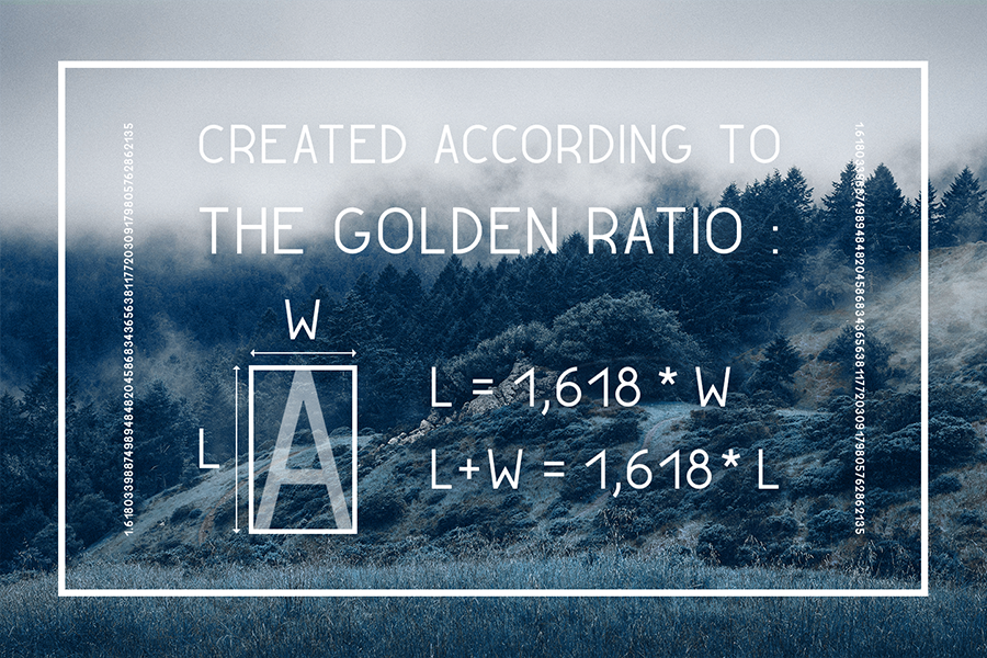 Golden Ratio Typeface