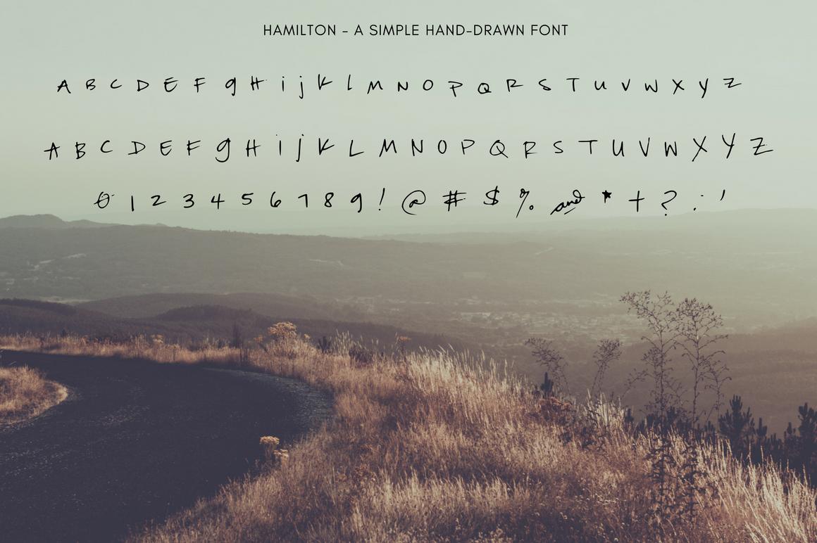 Hamilton Hand Drawn Font