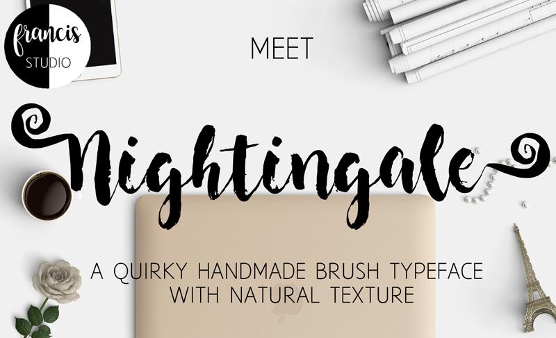 nightingale-brush-font