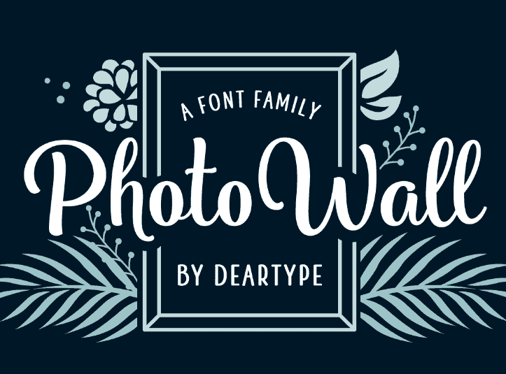 PhotoWall Font Family - Befonts com