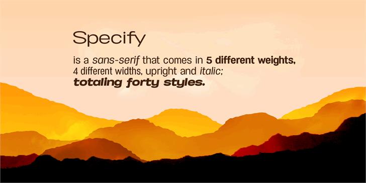 Specify Font Family