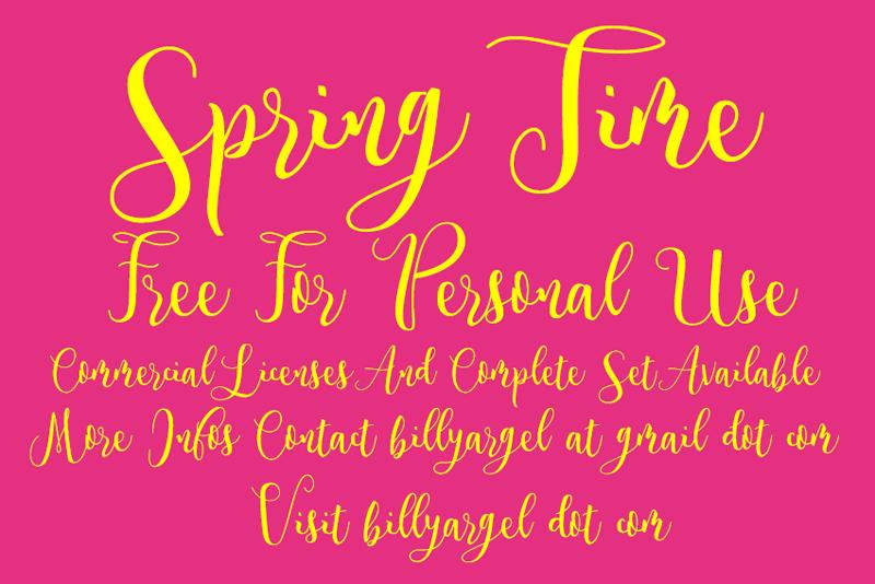 Spring Time Script Font