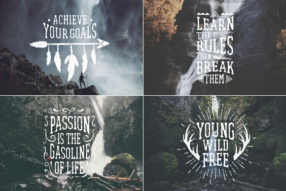 Waterfall Handcrafted Font (+bonus)