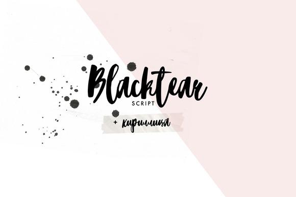 Blacktear Script Font