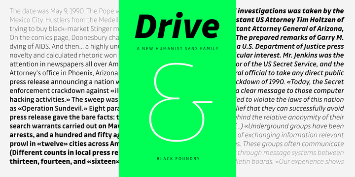 Drive Font Family