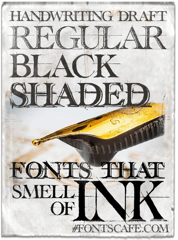 Handwriting Draft Shaded Font