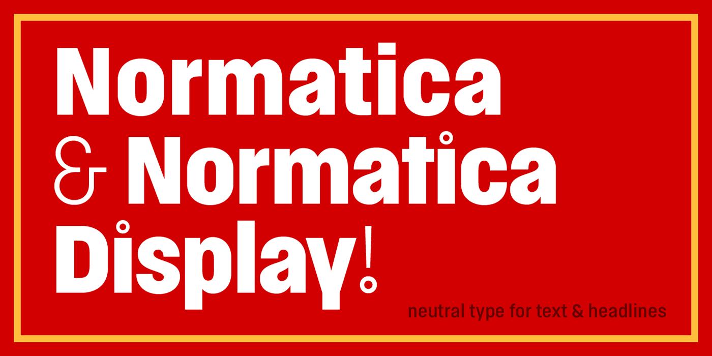 Normatica & Normatica Display Typeface
