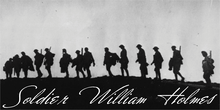 Soldier William Holmes Font